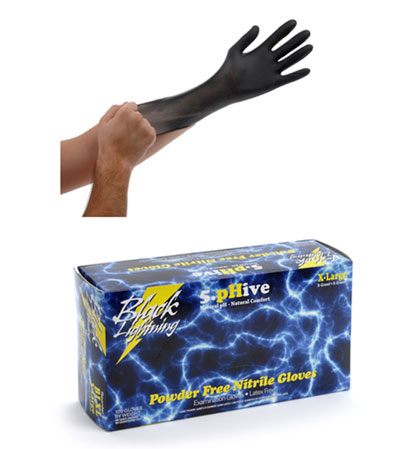 Black Lightning Gloves, 100 count