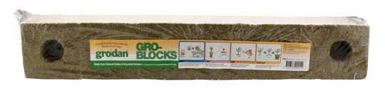 "Grodan Delta 8 Block (6 Pack), 4""x4""x3.25"" (w/ Hole) - Click Image to Close"