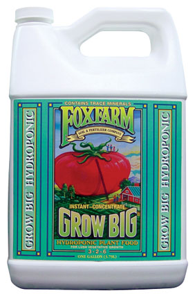 Fox Farm Grow Big Hydroponic (3-2-6) - Gallon - Free Shipping