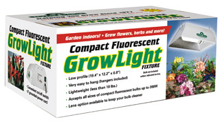 Compact Fluorescent Grow Light Fixture (No Bulb or Lens)