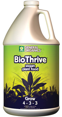 General Organics BioThrive Grow (4-3-3) - Gallon