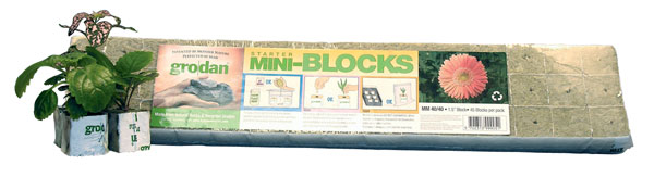 "Grodan Starter Mini Blocks, 1.5"" (MM 40/40) - 45 Blocks/Pack"