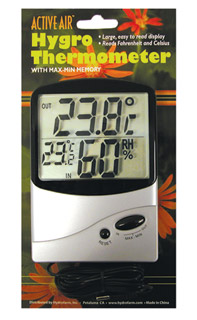 ActiveAir Indoor-Outdoor Thermometer w/Hygrometer