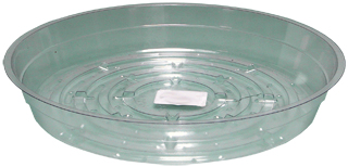 Clear Saucer - 8 inch