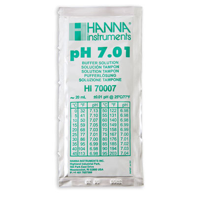 Hanna pH 7.01 Solution, 20 mL Sachet