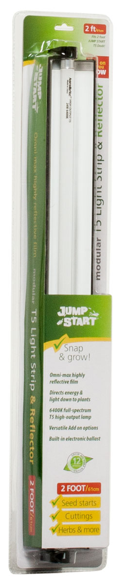 Jump Start 2' T5 Strip/Reflector Fixture w/Lamp