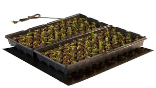 "Hydrofarm Seedling Heat Mat 9"" x 19.5"" - 17W GWP 250 - Click Image to Close"