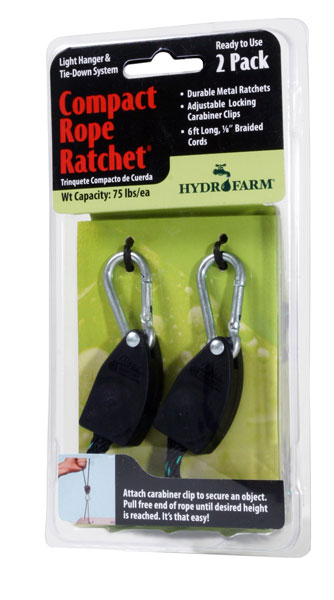 Hydrofarm 1/8 Rope Ratchet - 2 Pack - Free shipping
