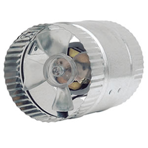"Suncourt 4"" In-Line Duct Fan"